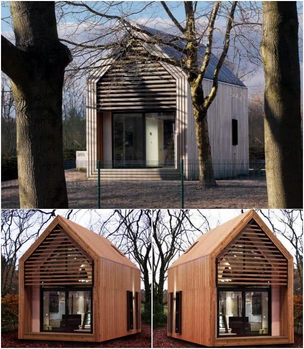 casa Dwelle con acabado exterior de madera