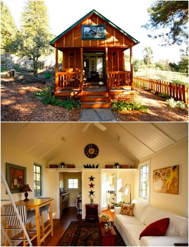 casa para huéspedes de madera