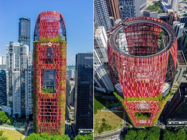 exterior Oasia Hotel Singapur