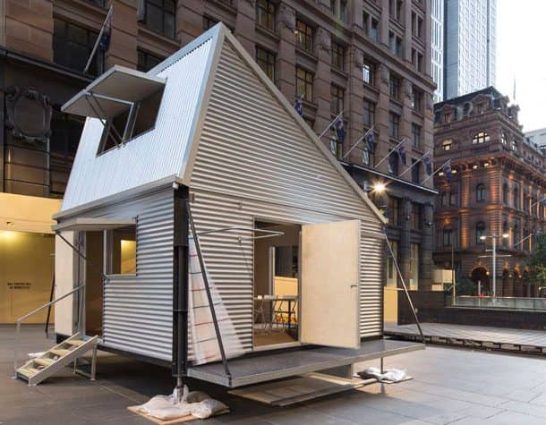Grid refugio a partir de un kit de elementos prefabricados - Refugios de madera prefabricados ...