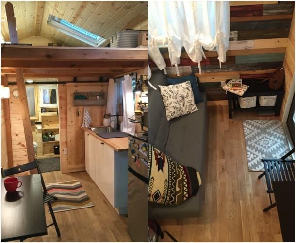 interior Hammy casita en un remolque Stephanie Henschen