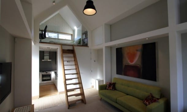 interior casa Dwelle - Wudl