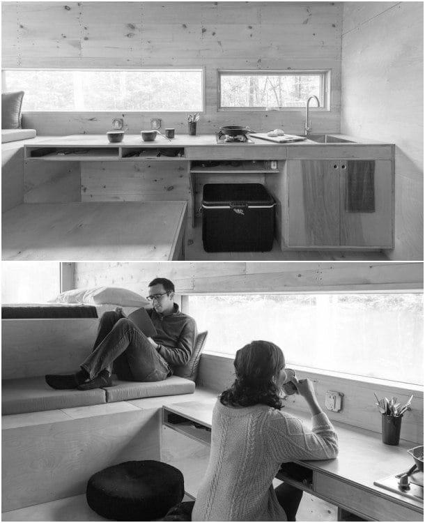 interior casita de madera MAISIE