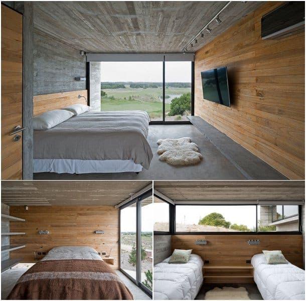 interior vivienda de hormigon