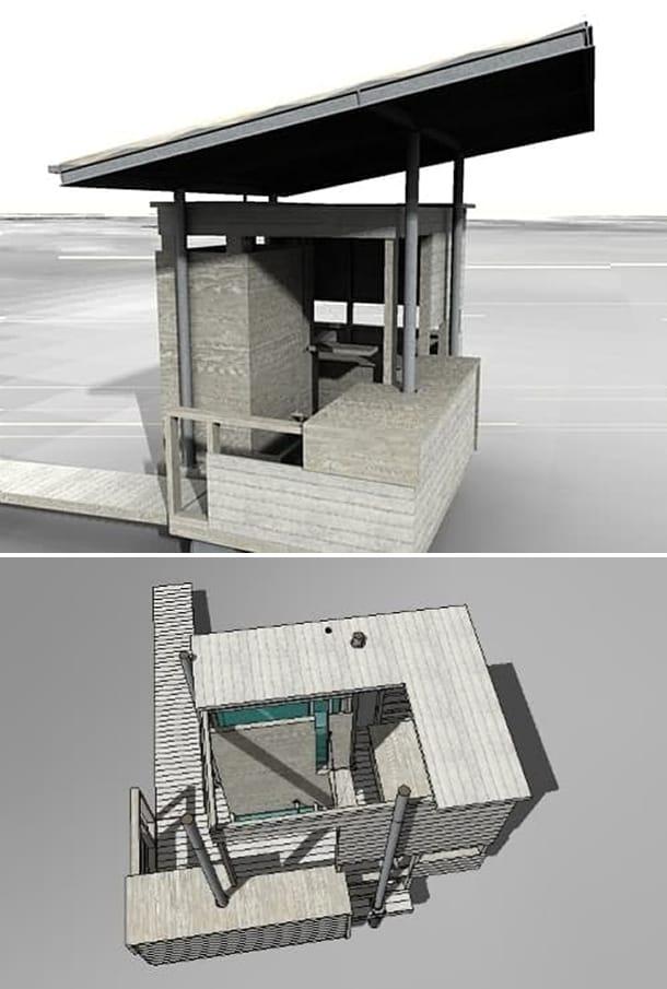 modelo SketchUp Lagoa Azul Shelter