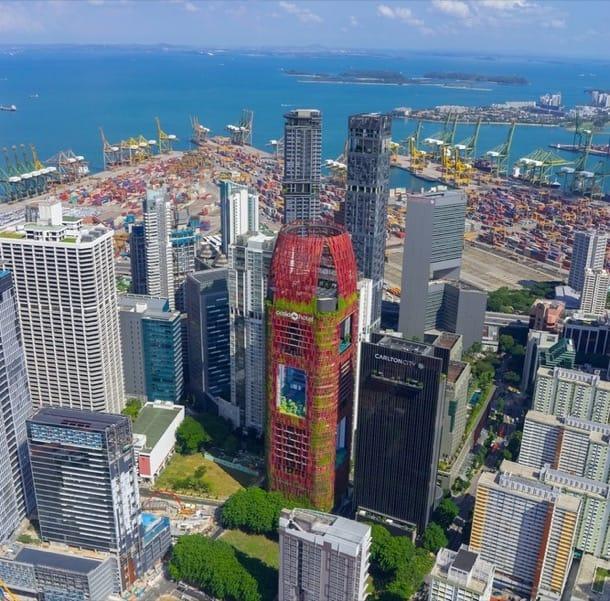 panoramica Singapur Torre Hotel Oasia