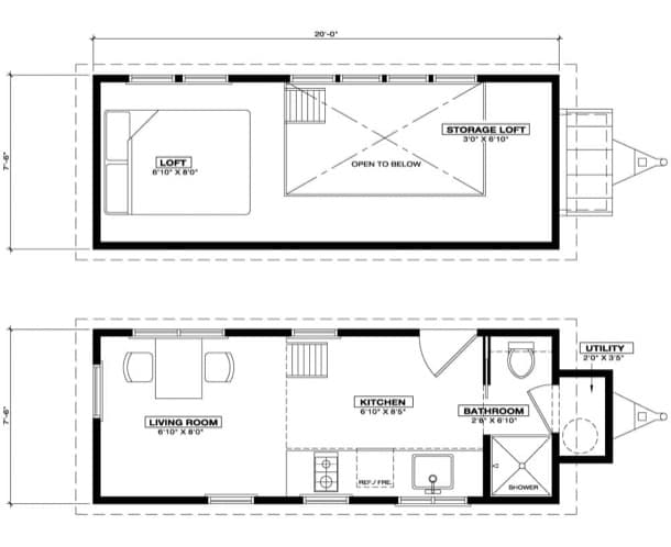 plano mini casa Alsek