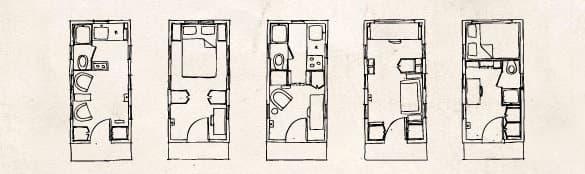 planos casa madera Gifford Tumbleweed