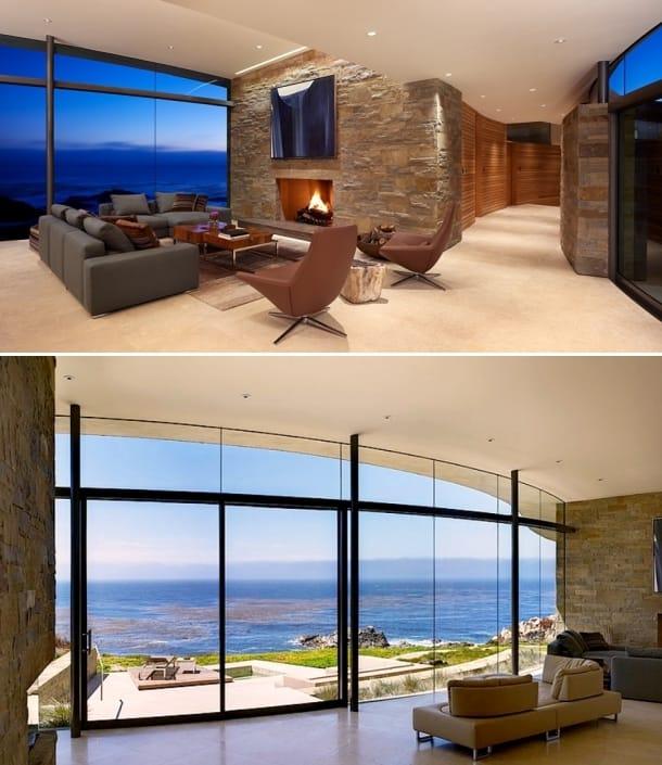 sala estar vivienda Otter Cove