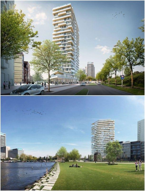 torre de madera HAUT Amstelkwartier