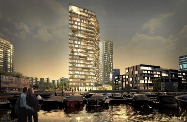 Torre residencial de madera para Ámsterdam