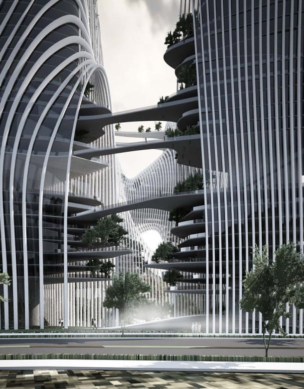 torres Shan-shui City MAD Architects