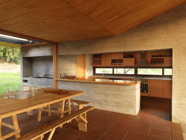 Campana House comedor y cocina