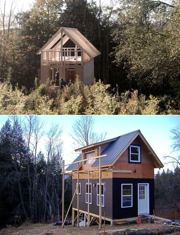 casa de madera construida taller Peter King