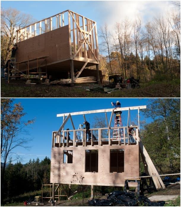 construcción casa de madera Peter King