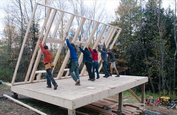 Construyendo una casita de madera