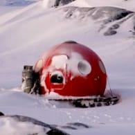 iglu prefabricado en la Antartida