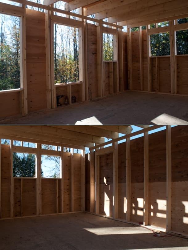 interior casa de madera taller Peter King