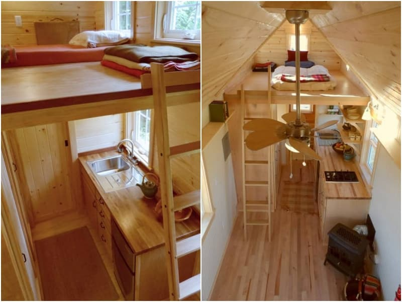 Ynez mini casa de madera fabricada por oregon cottage - Fotos de casas de madera por dentro ...