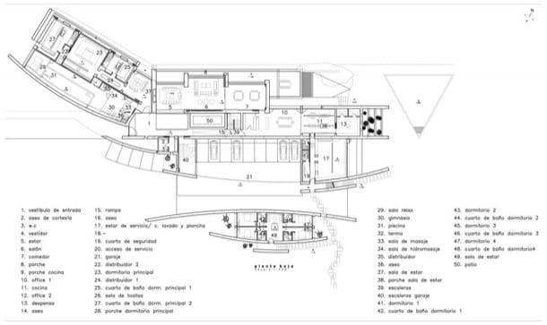 plano planta baja Villa Somosaguas A-Cero