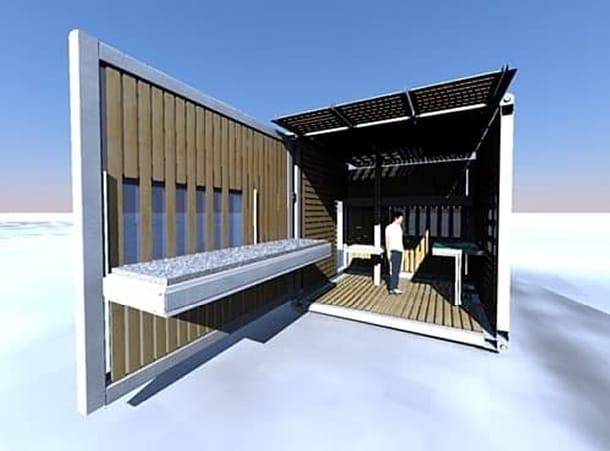 refugio prefabricado Zbox Shelter
