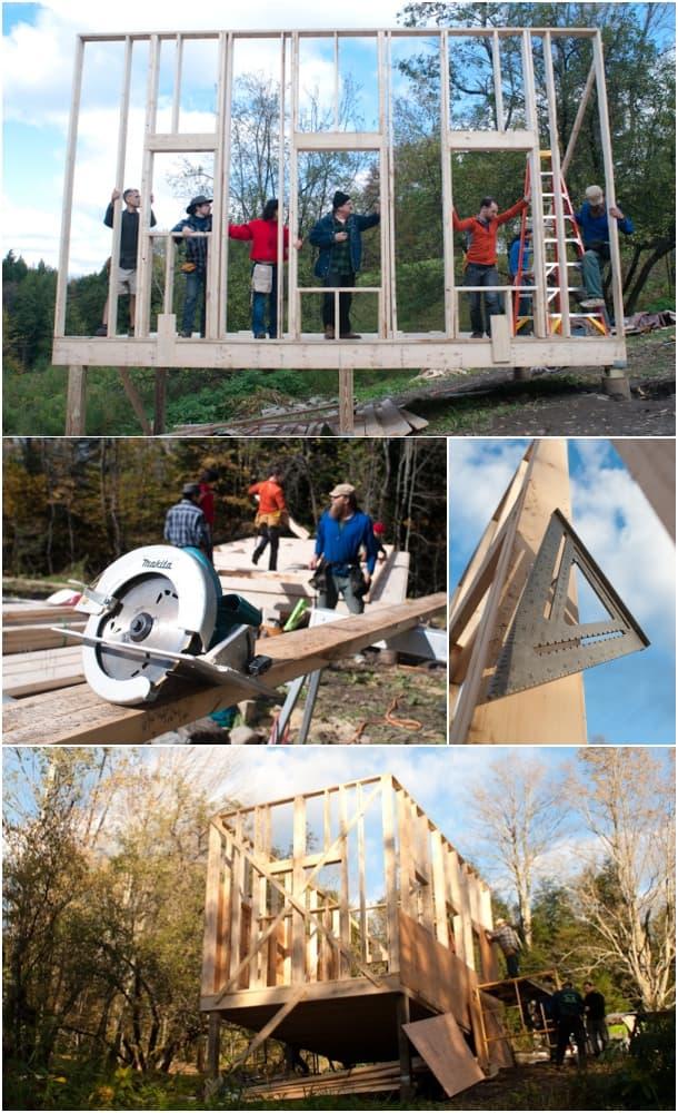 taller Peter King construcción de casas de madera