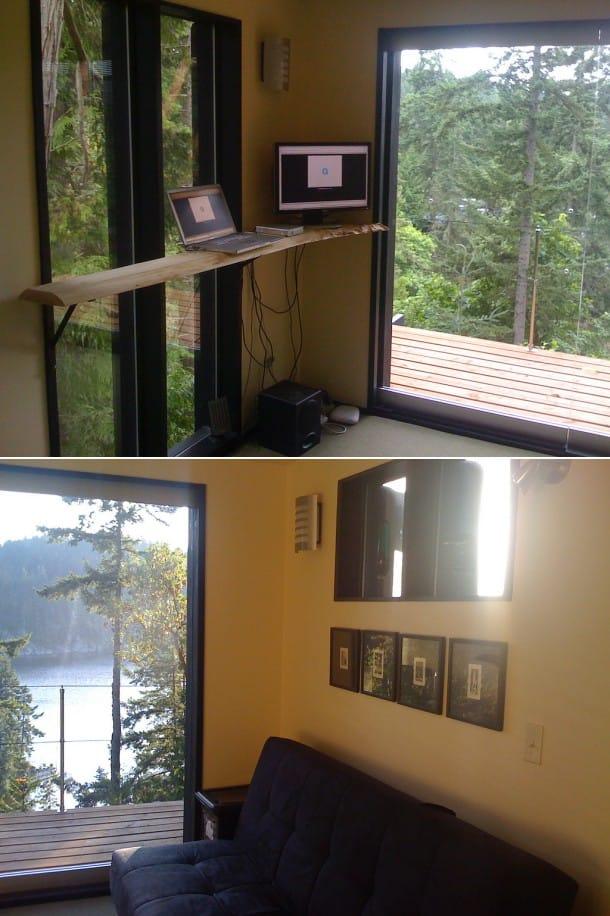 refugio oficina en bosque bahía Chuckanut