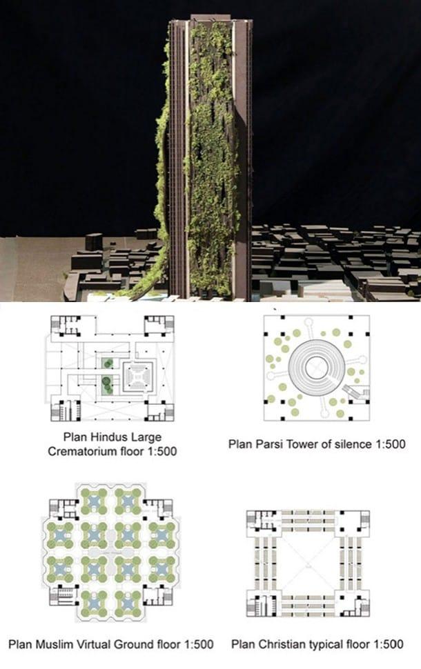 maqueta y planos Torre Moksha Mumbai - India