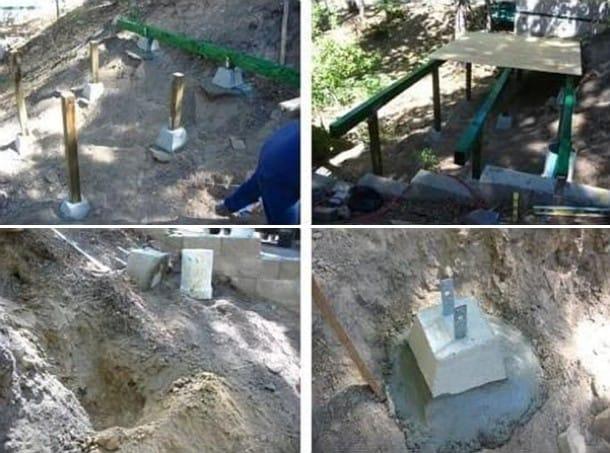 construcción en ladera de una mini casa