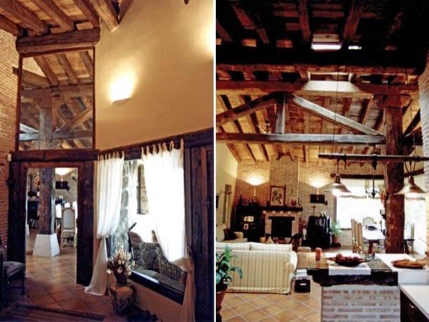 decoración interior casa rústica de Galapagar