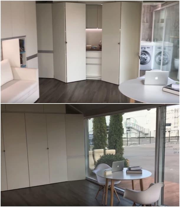 interior casita prefabricada modulOne