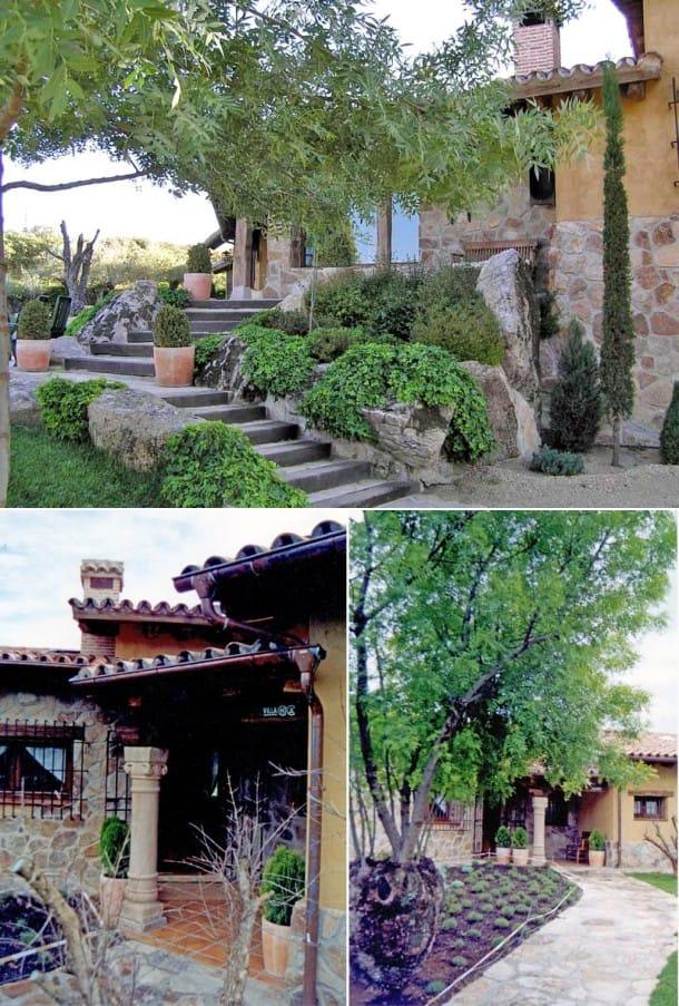 jardín chalet Pablo Iglesias - Irene Montero