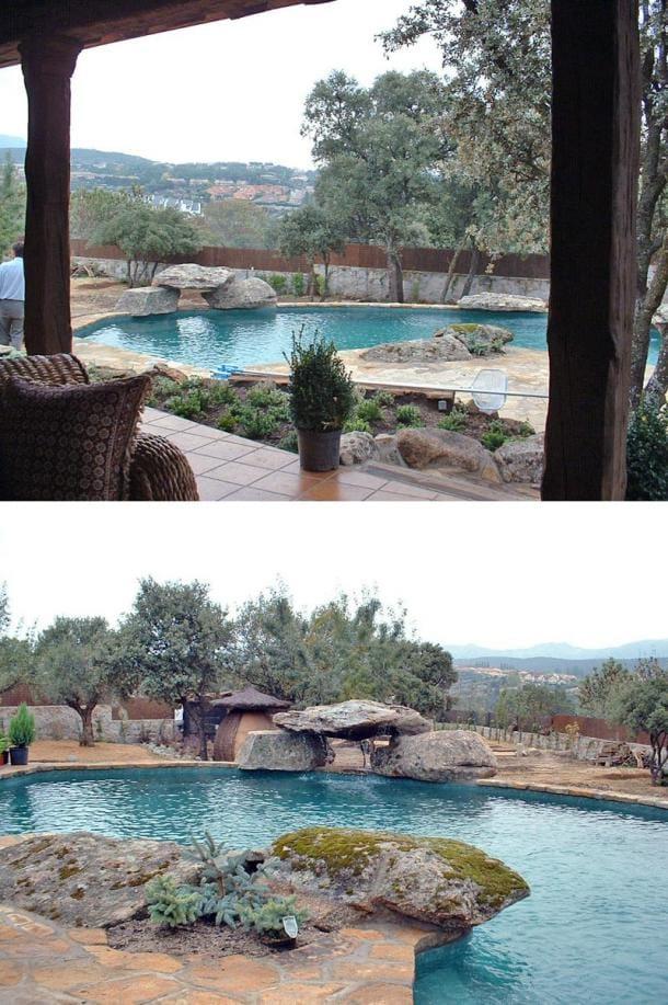 piscina casa rústica de Galapagar - Chalet Pablo Iglesias