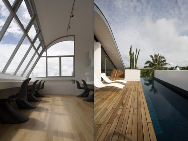 Changi Bungalow - sala estudio y piscina en planta atico